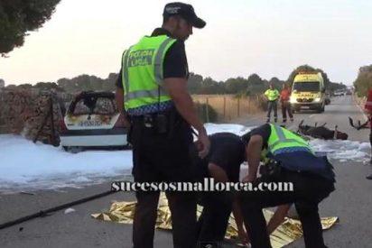 Un conductor se duerme al volante de su coche y mata a un motorista en s'Estanyol