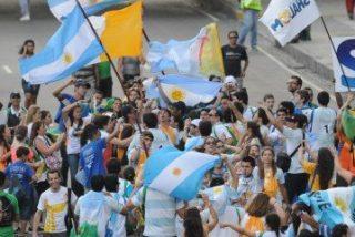 Bergoglio, con los jóvenes argentinos