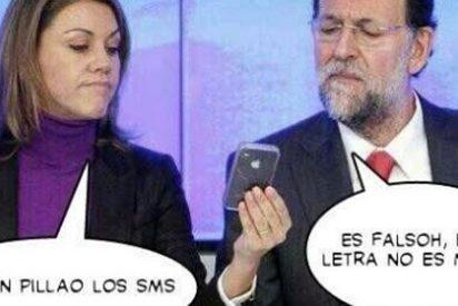 Los SMS de Rajoy hunden en la miseria al PP en las redes sociales