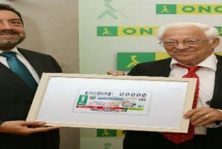 Un cupón de la ONCE para el Banco Solidario de Mensajeros de la Paz