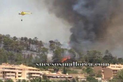 Un insensato quemando rastrojos es el causante de que ardan más de 800 hectáreas forestales en Andratx