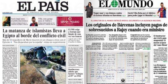 Bárcenas se esfuma de la portada de El País en el peor momento de Rajoy