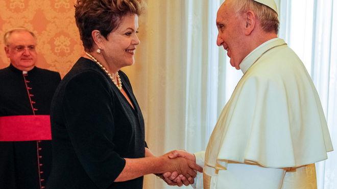 """Rousseff asegura que la JMJ """"dará más fuerza"""" a las conquistas sociales"""