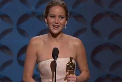Jennifer Lawrence saca su Óscar de casa porque le da 'yuyu'