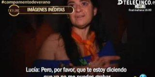 """Lucía Etxebarría se pone en plan Pantoja al abandonar 'Campamento de Verano' : """"¡No me grabes más! Me voy. Mi vida es otra. ¡Yo he vendido 200.000 libros!"""""""