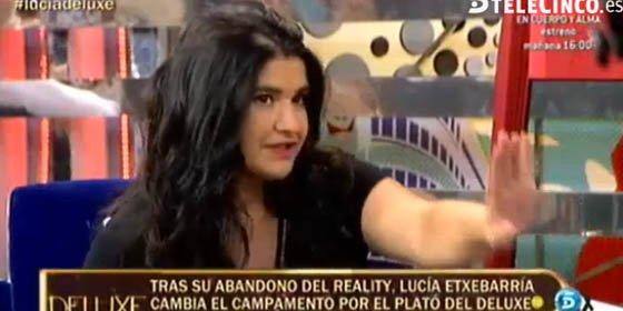 """¿Por qué Lucía Etxebarría se comportó como se comportó en el Deluxe? ¿Por qué se queja cuando, en realidad, le dieron trato de favor?: """"Me habéis arruinado la adopción"""""""
