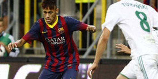Neymar se estrena con un empate ante el Lechia Gdansk (2-2)