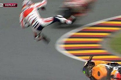 Pedrosa cae en el Gran Premio de Alemania y sufre traumatismo craneoencefálico