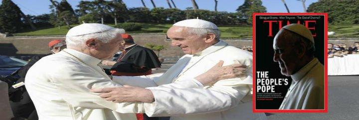 Francisco visita a Benedicto para pedirle que rece por él y por su viaje