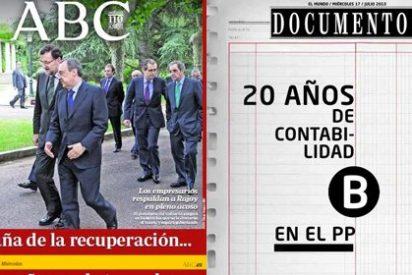 Las dos Españas mediáticas: de la imagen 'blanca' de Rajoy al dinero negro del PP