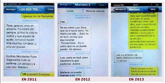 Rajoy intercambió SMS con Bárcenas cuando ya se había descubierto la 'tostada' y le instó a resistir