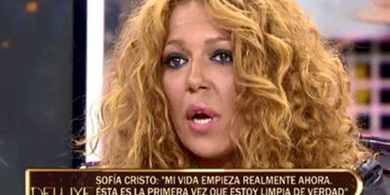 """Sofía Cristo, todavía en rehabilitación y sin poder ver a su familia, acude al 'Deluxe' para hablar de las drogas: """"Vengo para pagarme la terapia"""""""