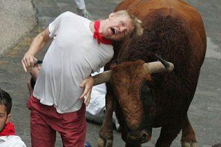 San Fermín 2013: Tres heridos por asta de toro en el sexto encierro
