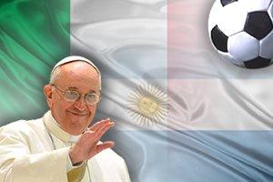 Victoria argentina en el amistoso contra Italia por el Papa Francisco