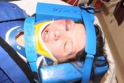 El vídeo de cómo dejan medio tuerta a una mujer de una paliza por robar ropa