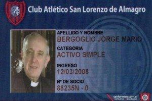 "Papa paga ""religiosamente"" su cuota de socio del San Lorenzo"