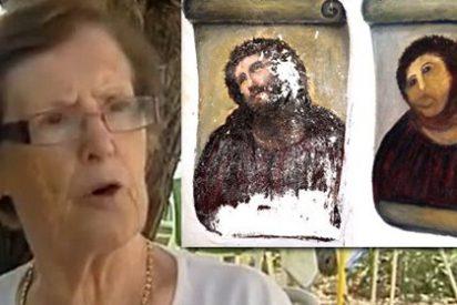 Cecilia, la genial 'restauradora' del Ecce Homo de Borja recibirá parte de lo que se cobra por ver su 'obra de arte'