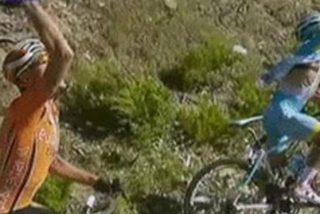 [Video] Un helicóptero de TVE tira a la cuneta a tres ciclistas en la Vuelta a Burgos
