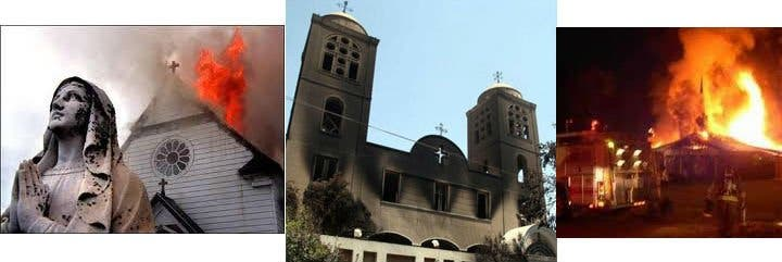 Los Hermanos Musulmanes destruyen al menos 36 iglesias cristianas