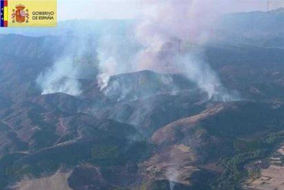 Un recolector de cereales se llevó por delante 1.300 hectáreas en el fuego de Guadalajara