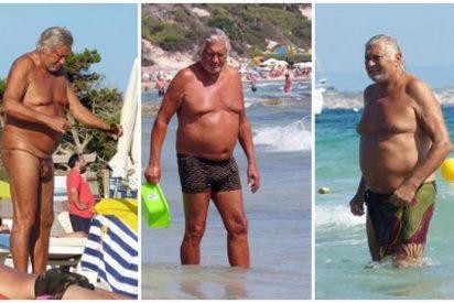 Marc Ostarcevic, el ex de Norma Duval, a tutiplén en Ibiza y con tanga de serpiente