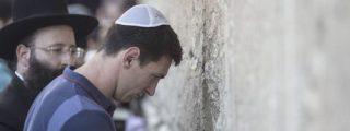 Messi, en el Muro de las Lamentaciones