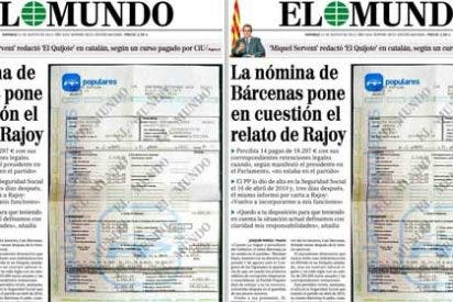 'El Mundo' publica una nómina de Bárcenas emitida por el PP y pone en cuestión el relato de Rajoy en el Congreso