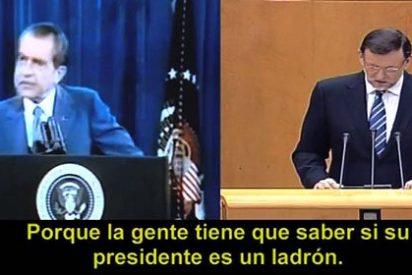 El PSOE equipara a Rajoy con Nixon el 'tramposo' en el vídeo #Findelacita