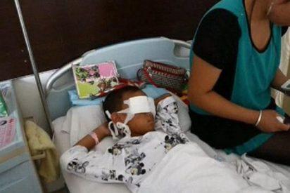 [Vídeo] Una china le arranca los ojos a un niño de 6 años para venderlos