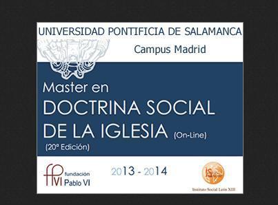 Master en Doctrina Social de la Iglesia en la Upsam