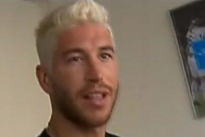 Sergio Ramos se arrepiente de su pelo rubio platino y cambia otra vez de 'look'