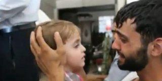 [Vídeo] Siria: Desgarrador encuentro con su pequeño tras haberle dado por muerto