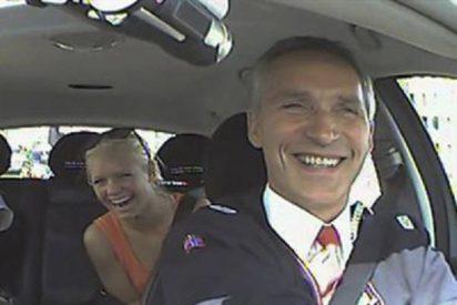 El primer ministro noruego se disfraza de taxista y pone rumbo a la reelección