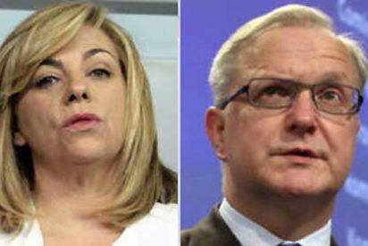 Elena Valenciano al comisario europeo Rehn: