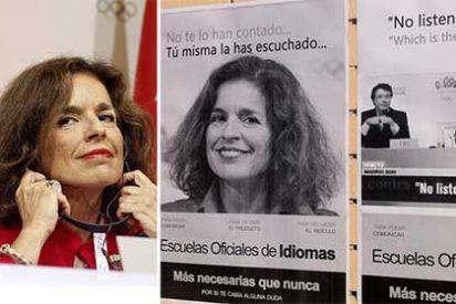 Unos cachondos usan la 'relaxing' Ana Botella de reclamo para la escuela de idiomas