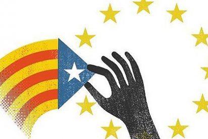 "La prensa catalana advierte a Angela Merkel: ""Europa nos roba"""