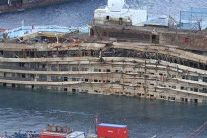 Concluye la operación de rotación del crucero 'Costa Concordia'