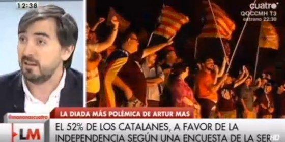 """¿Defiende Escolar la independencia catalana?: """"Los pueblos sólo están unidos si sus ciudadanos quieren"""""""