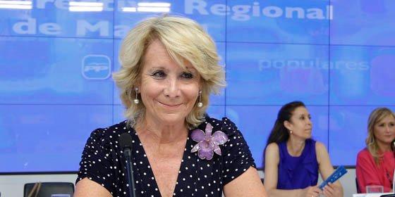 """Esperanza Aguirre: """"Cataluña es propiedad de todos los españoles"""""""