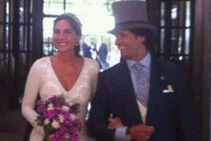 Twitter revienta la exclusiva de la boda de Fran Rivera y le 'pisa' la cola al traje de novia de Lourdes Montes