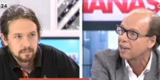 """Pablo Iglesias llama """"infame"""" a la monarquía y enciende a González : """"Vete a Cuba a decirle eso a Castro"""""""