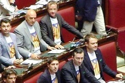 La ultraderecha italiana se enfunda la bandera 'estelada' catalana