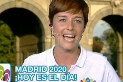 Los focos de TVE le queman la cara a la presentadora Marta Solano en 'Madrid 2020'