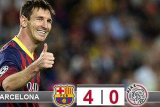 Leo Messi replica a Cristiano Ronaldo con un 'hat-trick' al Ajax
