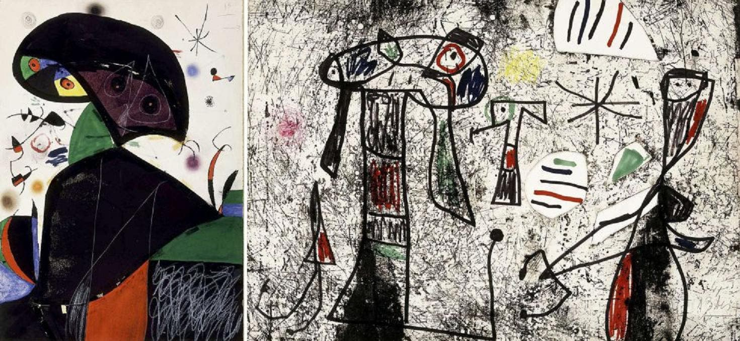 Aparece el cuadro de Miró que 'voló' de la Fundación...¡en una empresa de transportes!