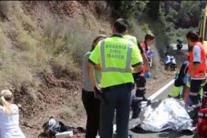 [Vídeo] Se mata ante su hijo al caer con su quad por un terraplén en Mallorca