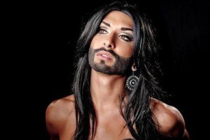 Un travesti con barba saca pecho y se presenta a Eurovisión con sus mejores galas