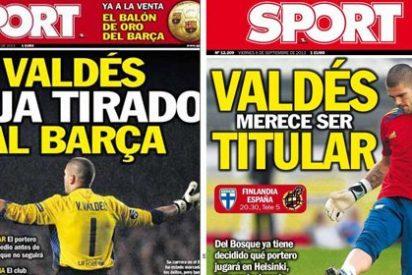 Sport 'indulta' a Valdés: pasa de acusarle de dejar tirado al Barça por no renovar a exigir a Del Bosque su titularidad con España