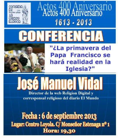 Conferencia de José Manuel Vidal en Vitoria
