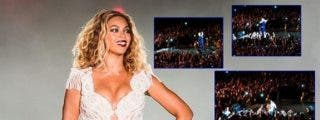 [Vídeo] Un fan saca del escenario a Beyoncé en mitad de un concierto dándole un susto de cuidado